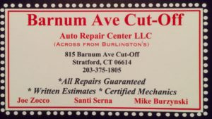 Barnum Ave Cut Off logo