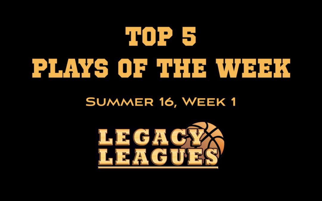 Top 5 Plays of Week 1